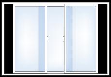3-lite Slider Windows
