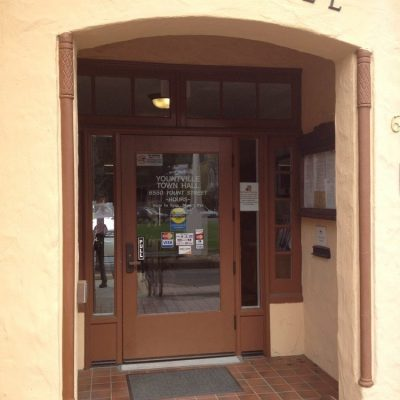 Main Door Yountville Town Hall