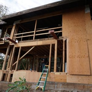 Wood Repair Project Before